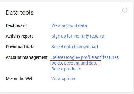 Google Account Remove Link
